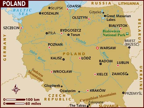 If You Have Been Wondering Where Lublin Is Here Is A Map Of The Major Cities In Poland Lublin Is In The Southeast Part Of The Country Near The Ukranian