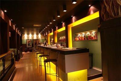 il bancone del Night club di Verona