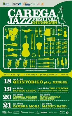 Locandina del Carega Jazz Festival a Verona