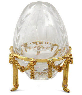 Faberge St. Petersburg Crystal Imperial Crown Egg
