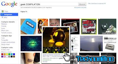 Nueva interfaz de Google en imagenes