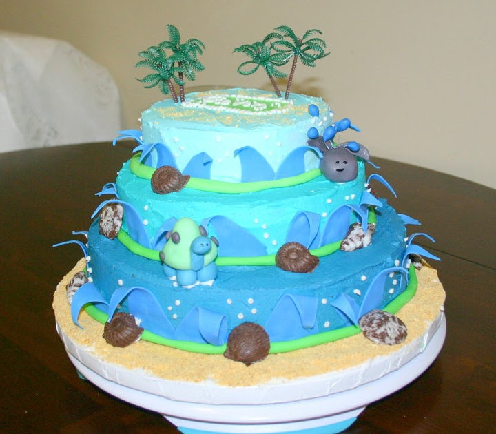 Sweets By Shelly Luau Themed Baby Shower Cake