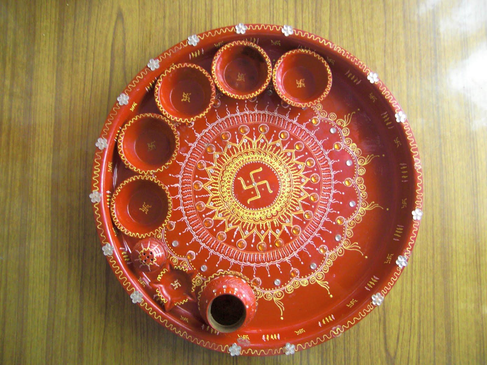 Namratas sketches art puja thali decoration puja thali decoration junglespirit Choice Image