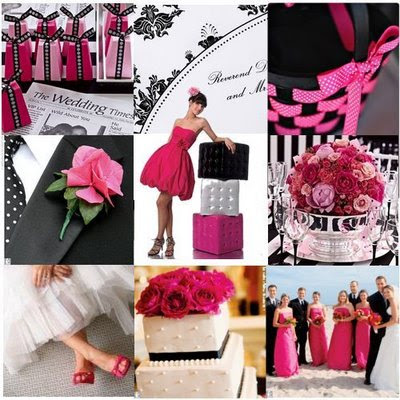 Hot Pink And Black Wedding Ideas