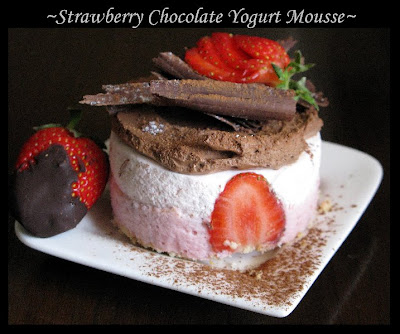 STRAWBERRY CHOCOLATE YOGURT MOUSSE MINI-CAKES