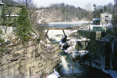 Photo of Triphammer Falls at Cornell University in Ithaca, NY