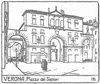 Drawing of the Piazza dei Signori from City Planning According to Artistic Principles, by Camillo Sitte