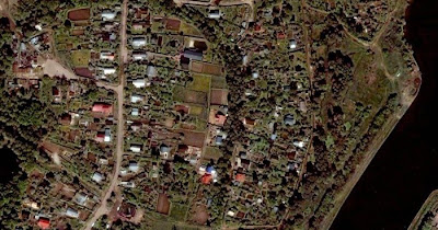Satellite photo of Russian dachas