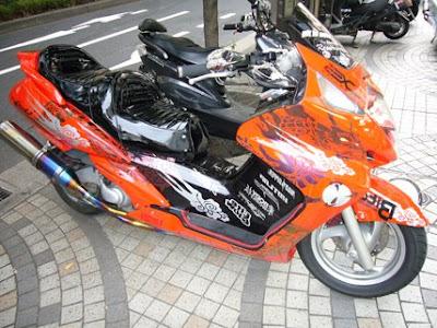 scooter jepang, low rider, modifikasi lowrider