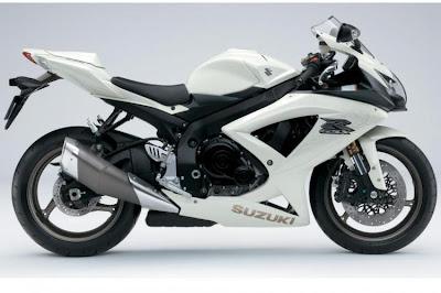 2009 Suzuki GSX-R600 - white