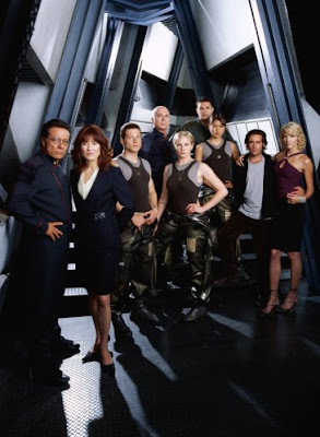 BSG cast on deck