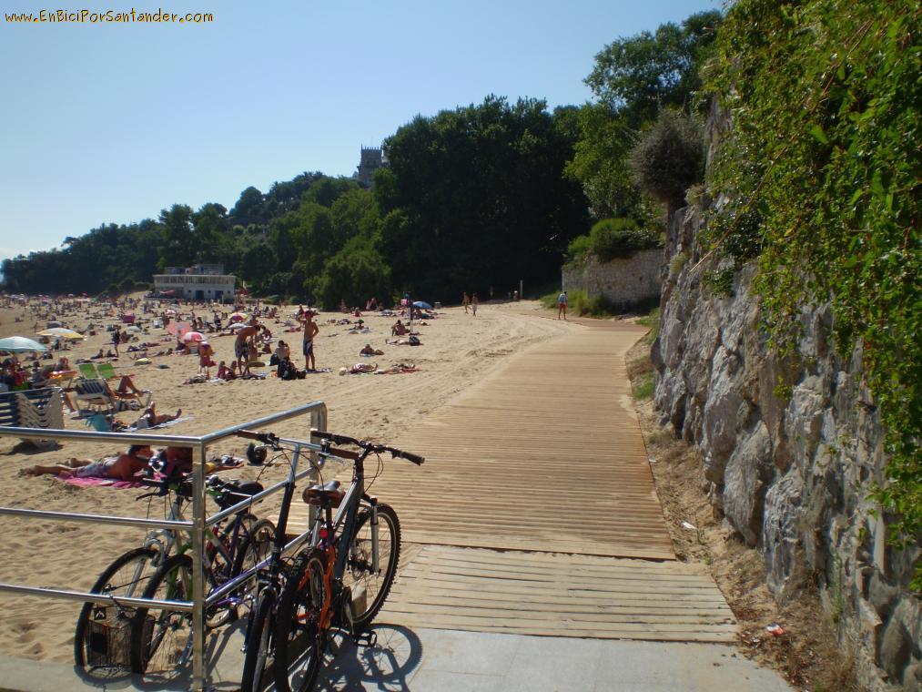 pasarela bici playa