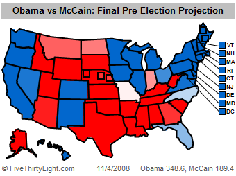 Final fivethirtyeight.com Projection
