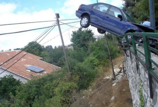 animated funny auto accident