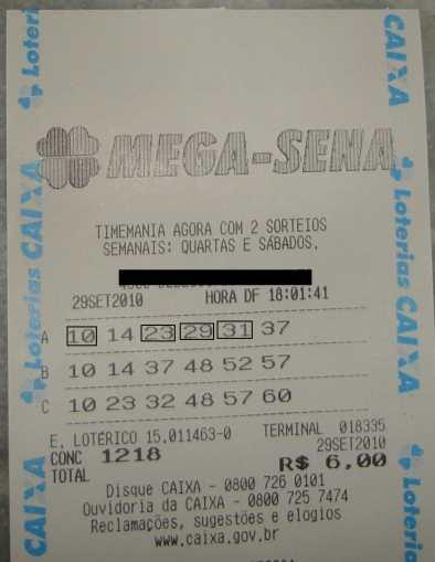 RESULTADO DE NOSSO BOLÃO DA MEGA SENA 1218