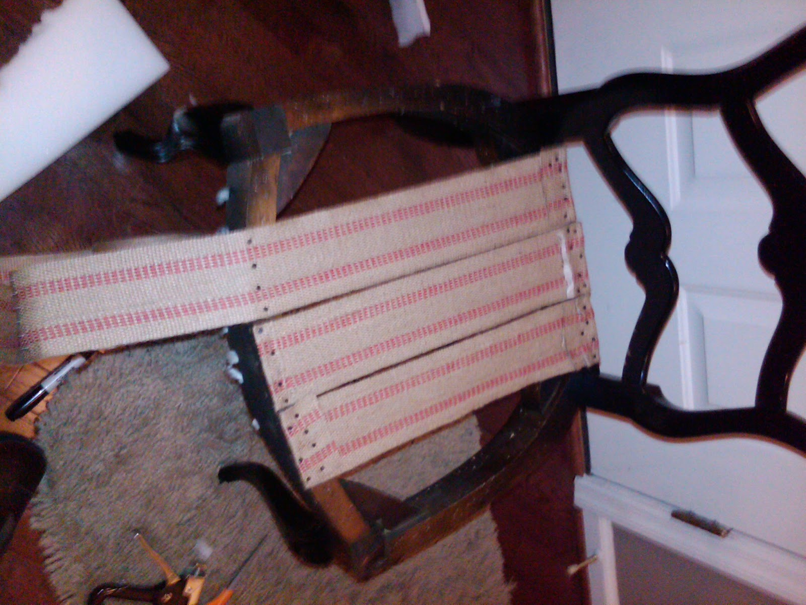 Reupholstering a Chair The Finished Product