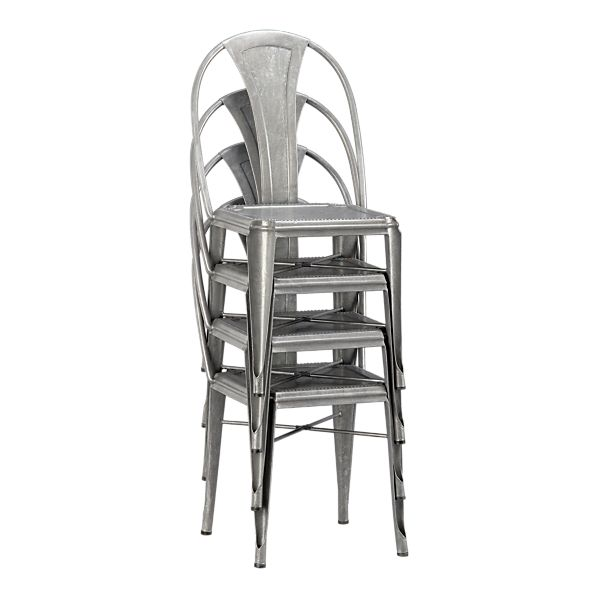 Galvanized Steel Chair | Interior Decorating and Home Design Ideas