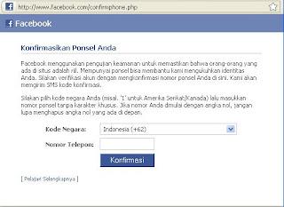 permintaan konfirmasi facebook