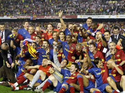 fc barcelona, el barca, treble winners, athletic bilbao, champion Copa Del Rey 2009