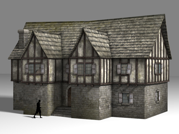 3dMedieval 39 S Tutorial Emporium Texturing A Medieval House
