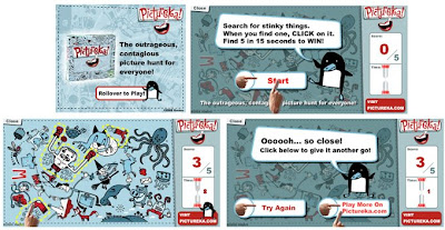"""Pictureka: Stinky Things!"" game banner ad"