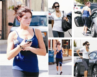Ashley Greene Workout Sexy Photos