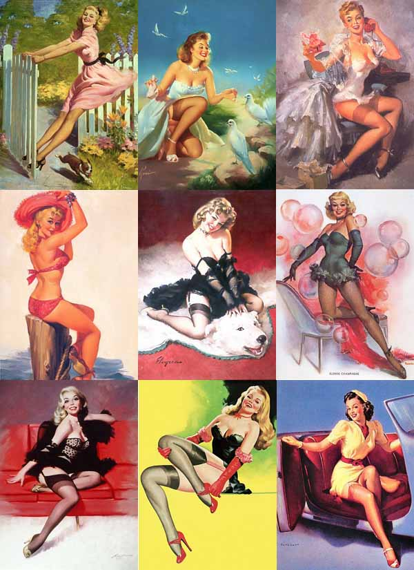 Pinup girls are considered to be beautiful, glamorous,