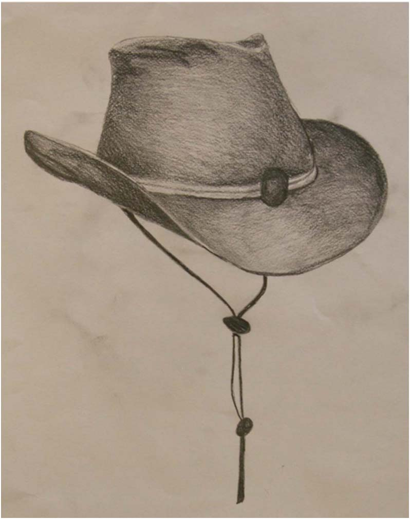 Lauren Reece: My drawing of a cowboy hat which will be ...