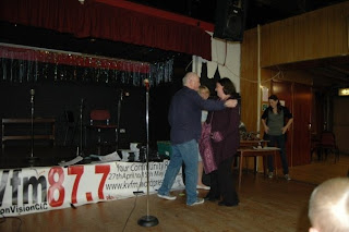 Louise receives certificate from Steve Faragher