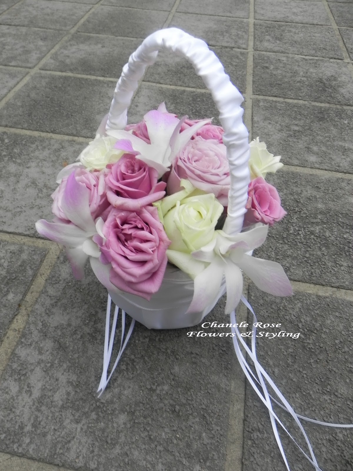 Flower Girl Baskets Sydney : Chanele rose flowers sydney wedding stylist