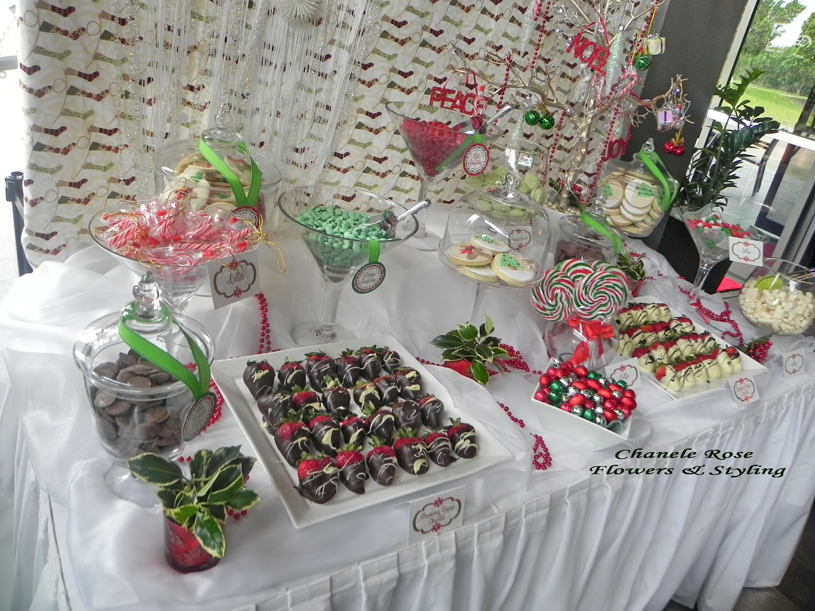 christmas candy table