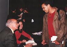 No colégio Santa Cruz com José Saramago, em 2003