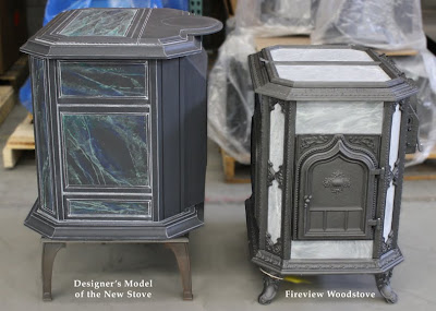 As you may notice, the body of the new stove is currently resting on the  base of a Keystone/Palladian stove to give it the correct approximate ... - Woodstock Soapstone Co. Blog: January 2011