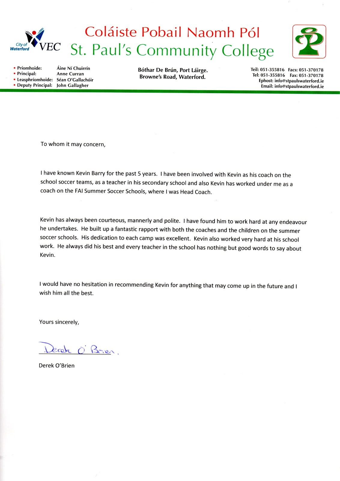 employer recommendation letter new calendar template site