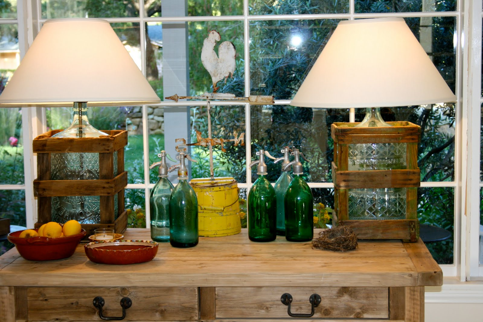 Water Lamps The Polished Pebble Vintage Water Bottle Lamps