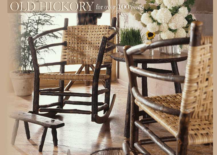 The Polished Pebble: Old Hickory Furniture....a love affair