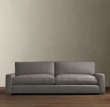 Sofa #3: Restoration Hardware; The Maxwell, Shown In Charcoal Vintage  Velvet. It Has All The Goods With Hand Tied Construction, Solid Hardwoods,  Down, ...