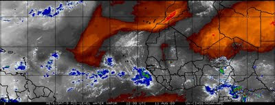 Red Color North Of TD#2=Dry Air Could Slow Development.