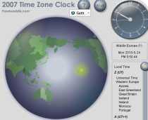 La hora mundial exacta World Clock Poodwaddle horario mundial hora exacta mundial