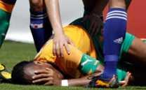 Drogba video de la lesión de Drogba