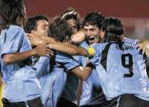 Gol de Uruguay a México Uruguay 1 México 0