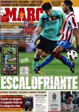 Messi escalofriante tapa de Marca muestra su lesión
