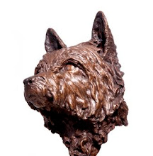 Sculpture of Cairn Terrier in Bronze