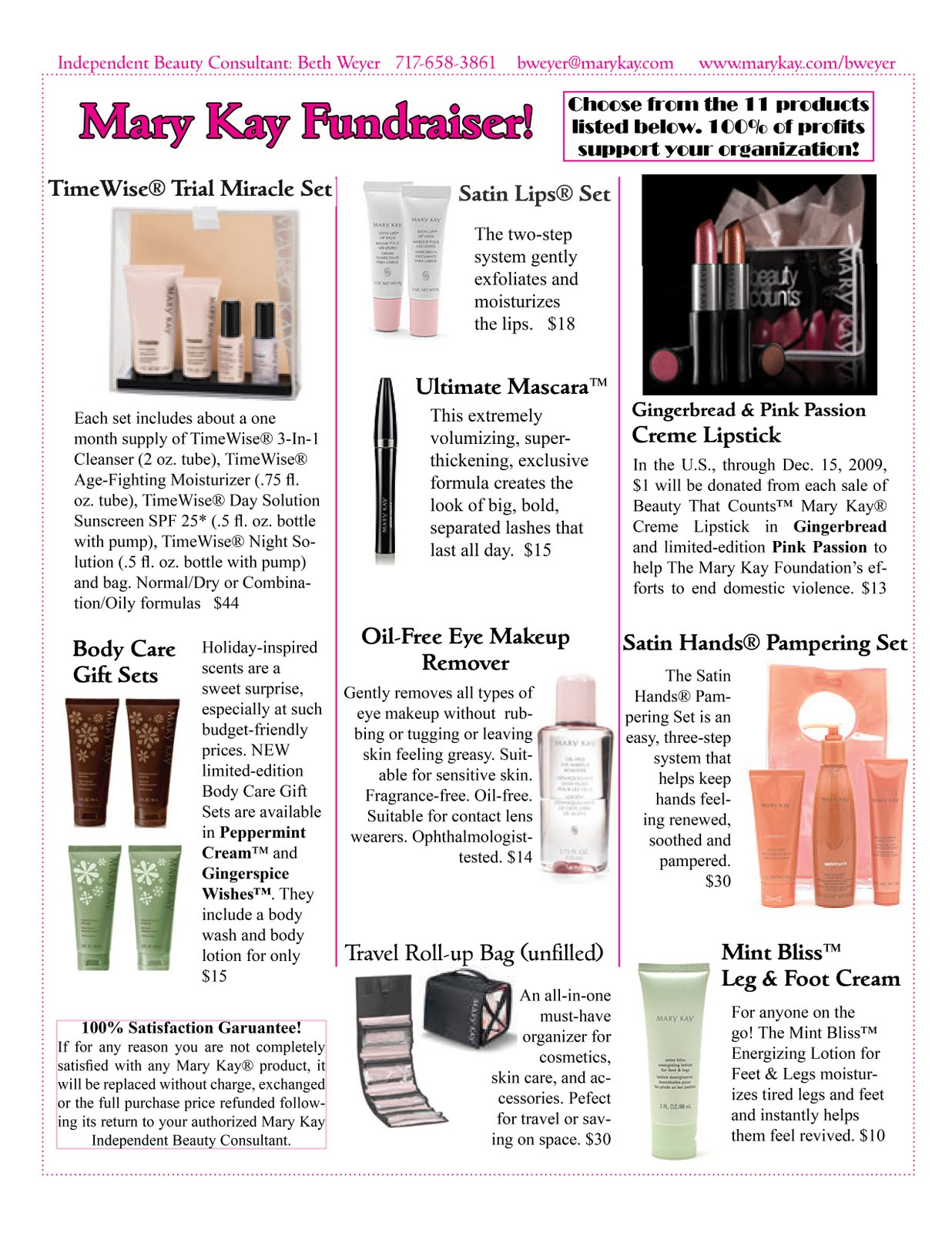 Mary Kay Fundraiser Sheet Pictures To Pin On Pinterest