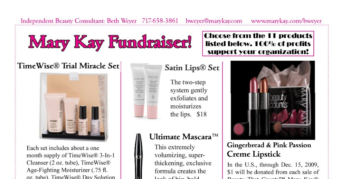 beth a  weyer  mary kay fundraiser