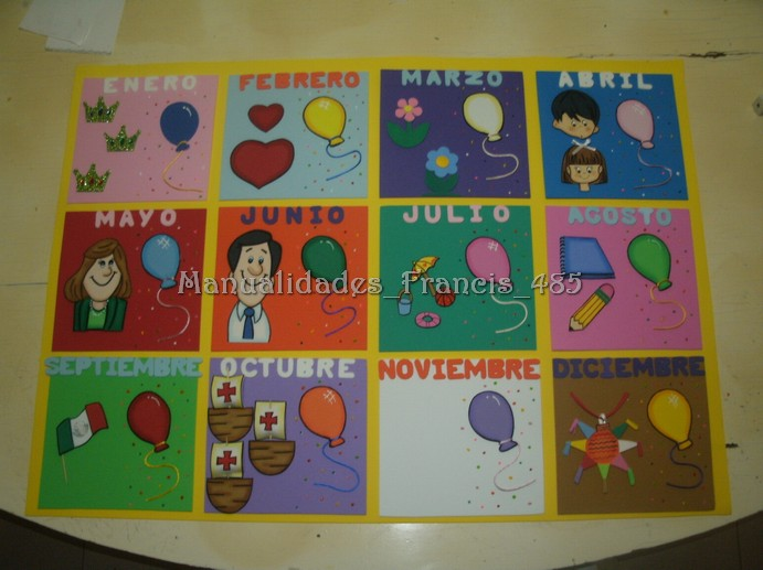 Manualidades_foamy_francis485: Calendario escolar