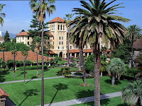 SDSU campus with palm trees.