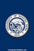 University of Nevada seal on flag.