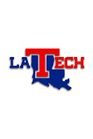 Small LA Tech blue and red logo.