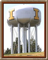 Framed picture of Idaho water tower.